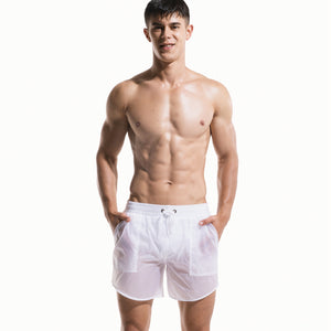 Men's Translucent Speedo Cover Up Shorts (Multiple Colors)