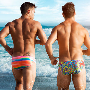 Men's Vibrant Print Sunga Swimsuit (Multiple Designs)