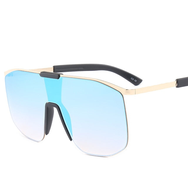Oversized Retro Rimless Sunglasses