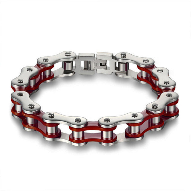 Stainless Steel Chain Bracelet (Multiple Colors)