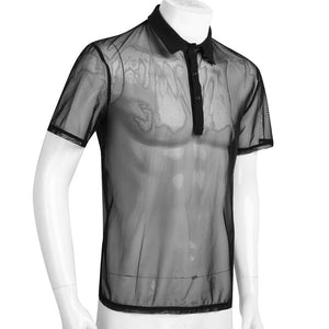 Men's Mesh See-Through Polo