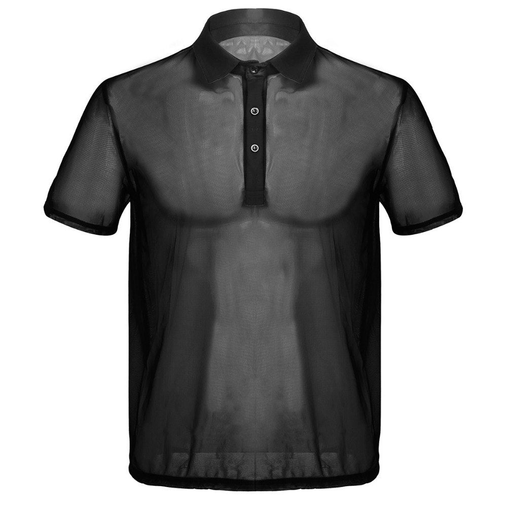 Mesh See-Through Polo
