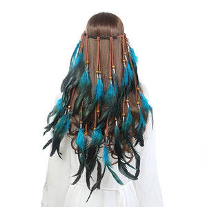 Bohemian Feather Hairpiece (Multiple Colors)
