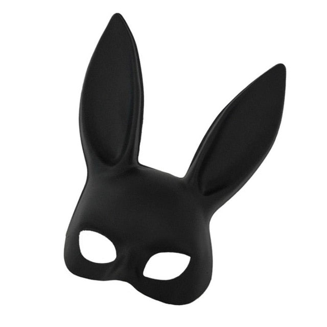 Cosplay Rabbit Mask (Black/White)