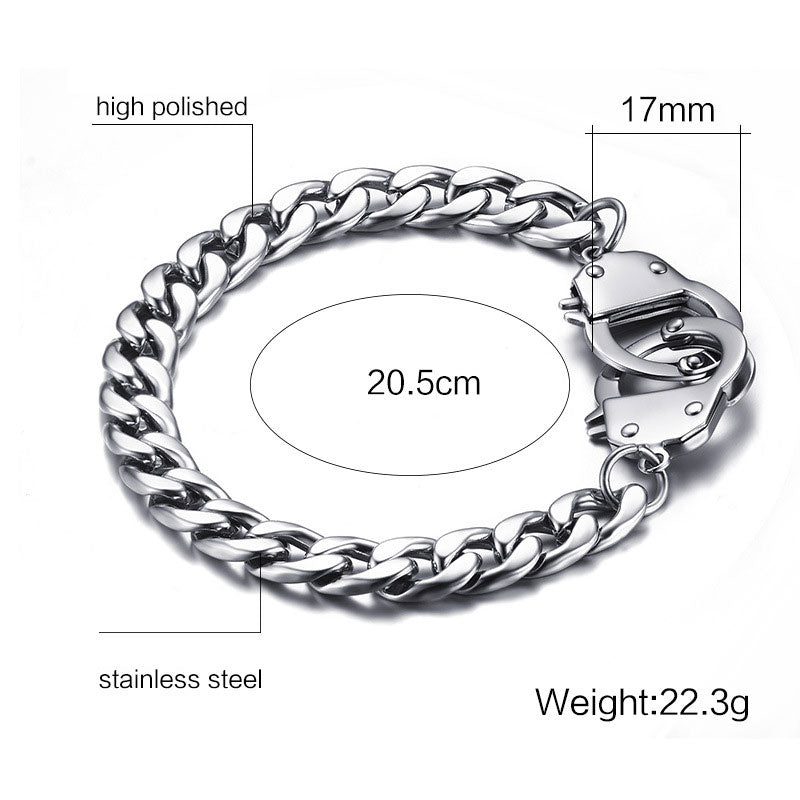 Stainless Steel Handcuff Bracelet