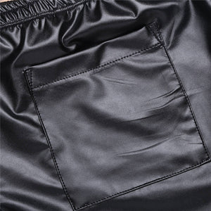 Men's Faux Leather Booty Shorts