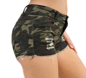 High Waisted Army Shorts