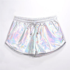Shiny Metallic Festival/Rave Booty Shorts (Multiple Colors)