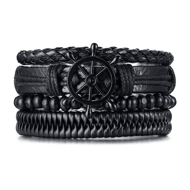 Vintage Multi-layer Leather Bracelet (Multiple Designs)