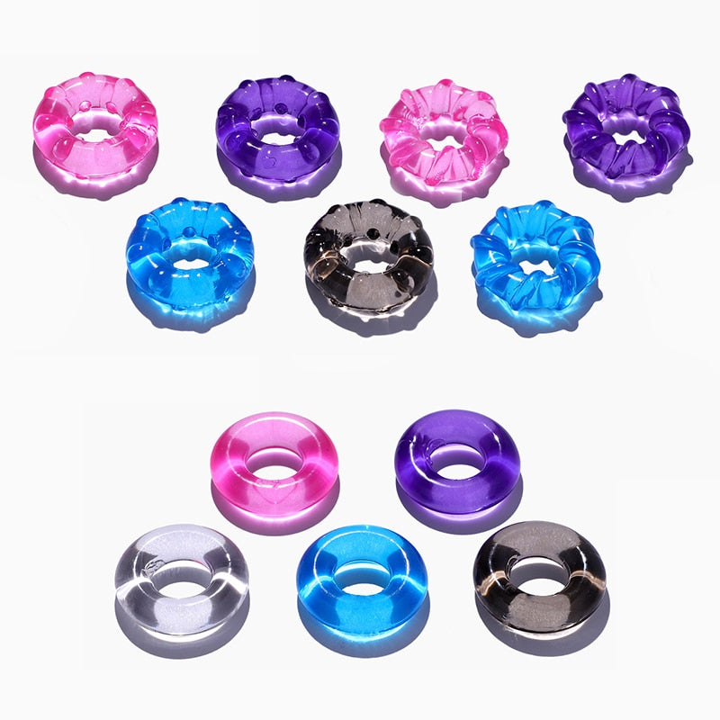 Colorful Silicone Cock Ring (3 Pcs Set/Multiple Colors)