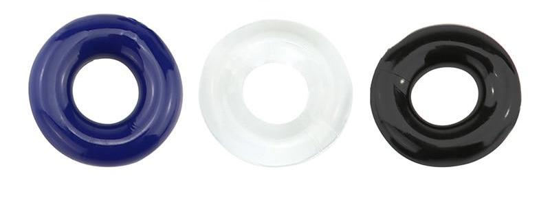 Silicone Cock Ring (Set of 3 Multiple Colors)