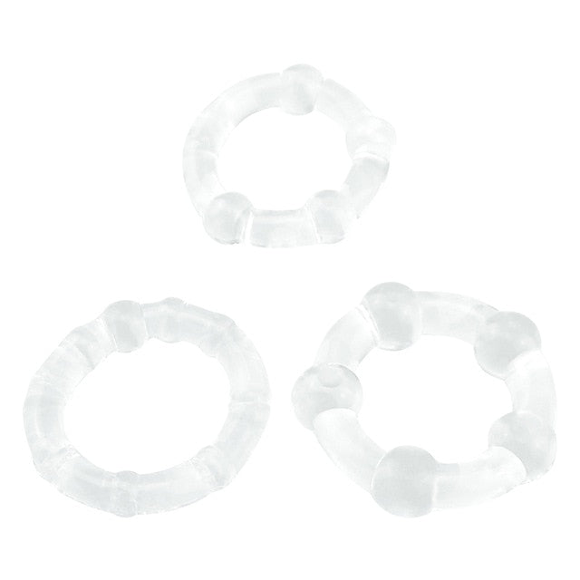 Silicone Cock Ring (Set of 3 Transparent)