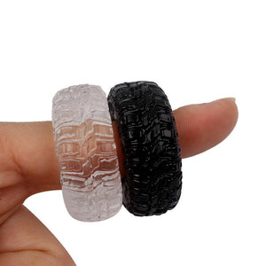 2Pcs/Set Silicone Cock Rings (Transparent & Black)
