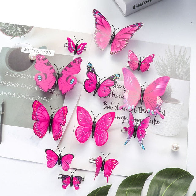Handmade Butterfly Hairclips (Multiple Colors)