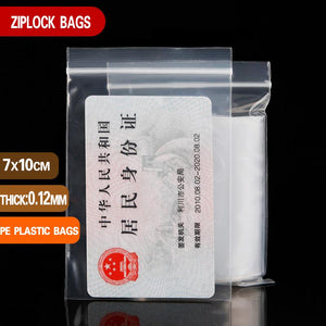 Small Plastic Ziplock Baggies (Multiple Sizes/100 Pieces)