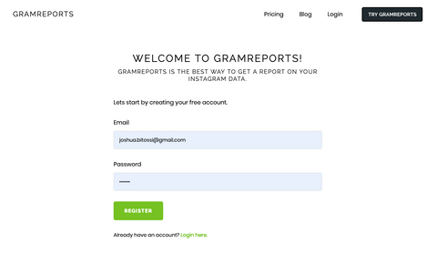 gramreports-registration-page