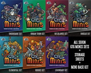 GTG Minis Bundle + Bases + Storage Sheets