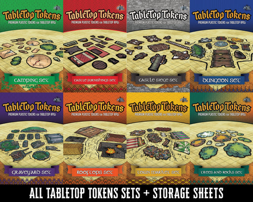 Tabletop Tokens 8-Set Bundle + Storage Sheets (Pre-Order)