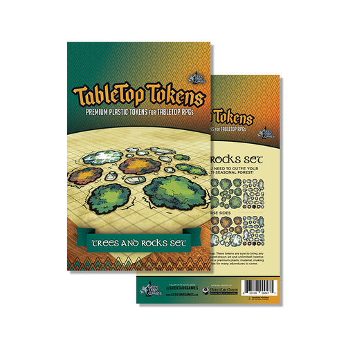 Tabletop Tokens Trees and Rocks Set