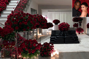 Travis Scott Spends Over $50,000 On Red Roses Filling Kylie Jenner's House