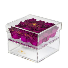 Purple Eternity Roses - Acrylic Box