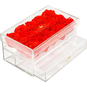 Louboutin Red Eternity Roses - Acrylic Box