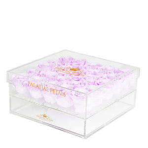 Lilac Eternity Roses - Acrylic Box