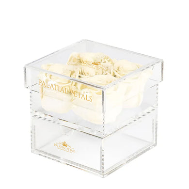 Pearl Eternity Roses - Acrylic Box