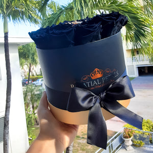 Black & 24k Gold Roses That Last A Year - Classic Rose Box