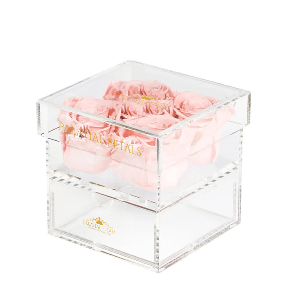 Blush Eternity Roses - Acrylic Box