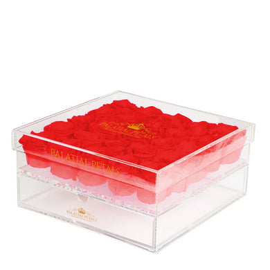 Red Eternity Roses - Acrylic Box