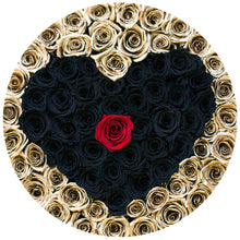 24K Gold & Black Magic Roses That Last A Year - XL Rose Box - Palatial Petals
