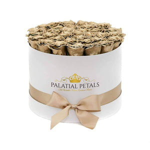 24k Gold Roses That Last A Year - Grande Rose Box - Palatial Petals