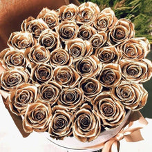24k Gold Roses That Last A Year - Large Rose Box - Palatial Petals