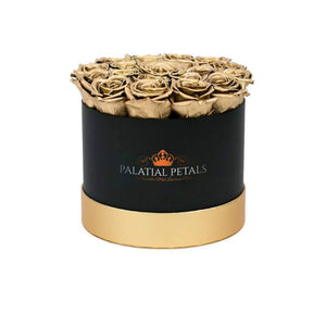 24k Gold Roses That Last A Year - Medium Rose Box - Palatial Petals