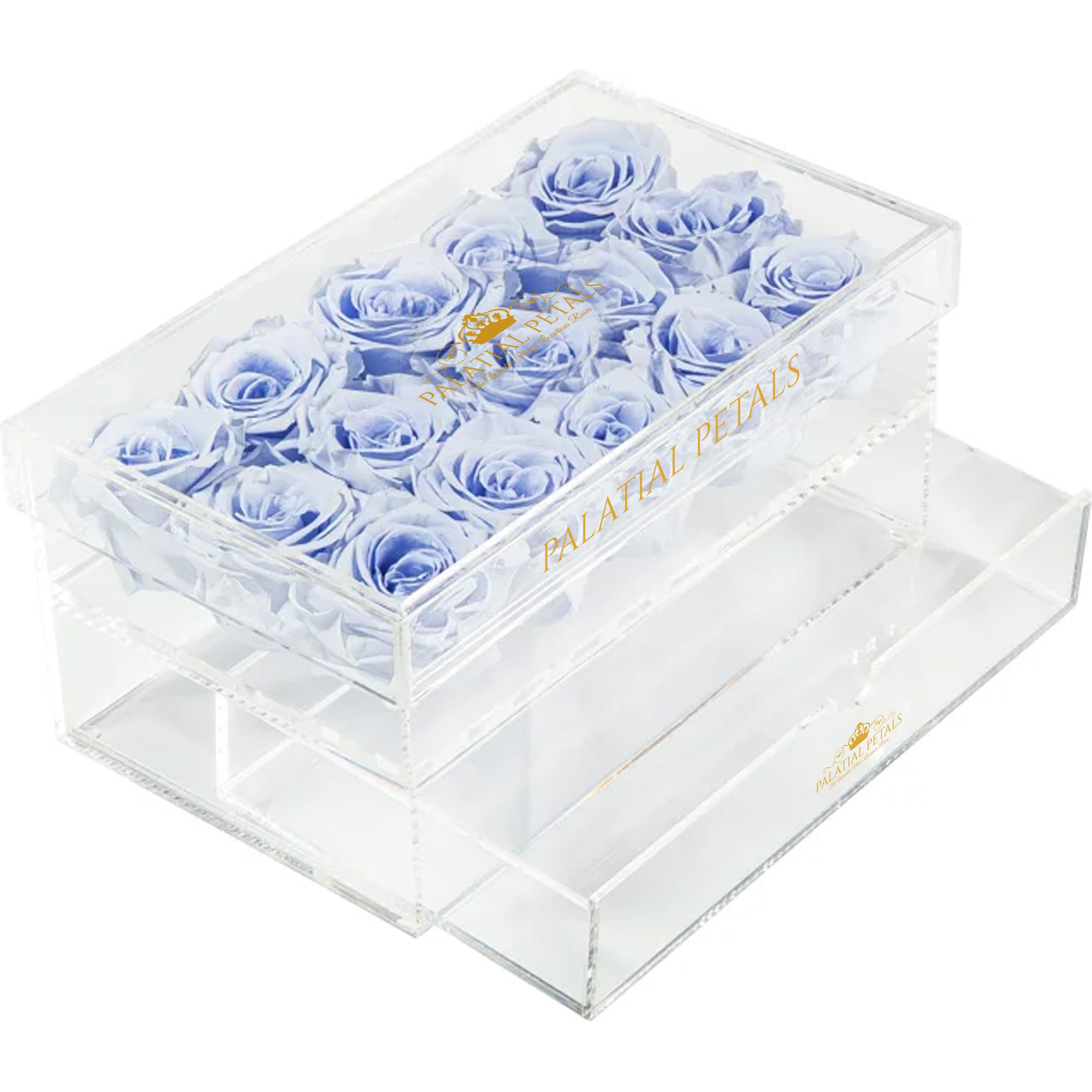 Violet Eternity Roses - Acrylic Box
