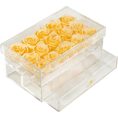 Peach Eternity Roses - Acrylic Box