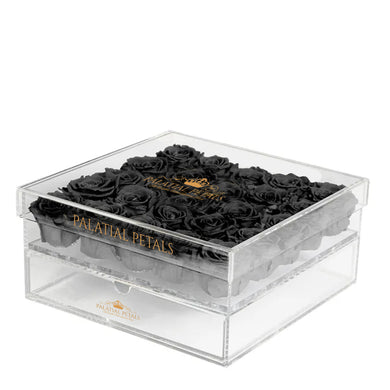 Black Eternity Roses - Acrylic Box