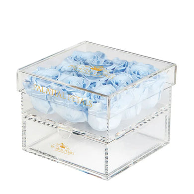 Baby Blue Eternity Roses - Acrylic Box