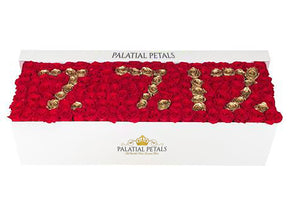 Louboutin Red & 24k Gold Roses That Last A Year - Custom Grandiose Rose Box