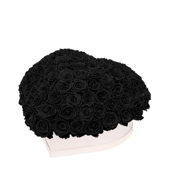 Black Roses That Last A Year - Love Heart