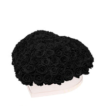 "Black Roses That Last A Year - Love Heart ""Crown"""