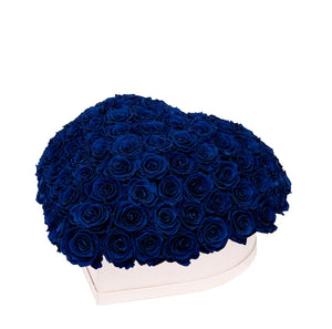 "Royal Blue Roses That Last A Year - Love Heart ""Crown"""