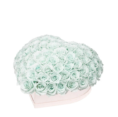Mint Green Roses That Last A Year - Love Heart