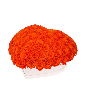 "Hermès Orange Roses That Last A Year - Love Heart ""Crown"""