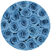Baby Blue Preserved Roses That Last A Year - Medium White Rose Box - Palatial Petals