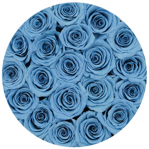 Baby Blue Roses That Last A Year - Medium Rose Box - Palatial Petals