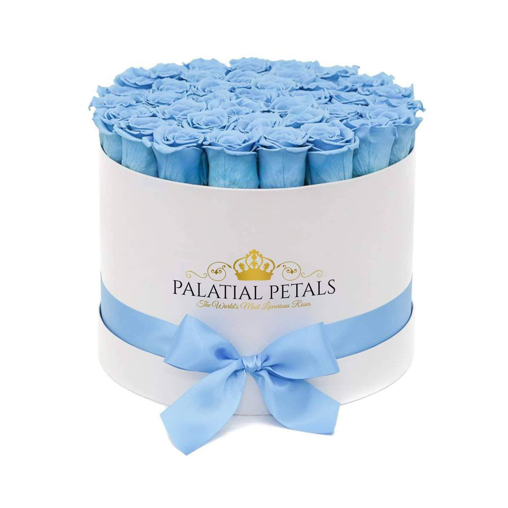 Baby Blue Roses That Last A Year - Grande Rose Box - Palatial Petals
