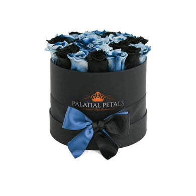 Black & Blue Roses That Last A Year - Medium Rose Box - Palatial Petals