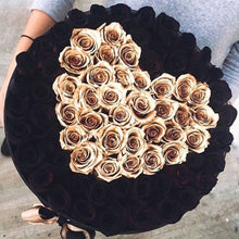 Black Magic & 24K Gold Roses That Last A Year - XL Rose Box - Palatial Petals